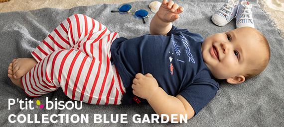 Collection Blue Garden garçon - P'tit bisou