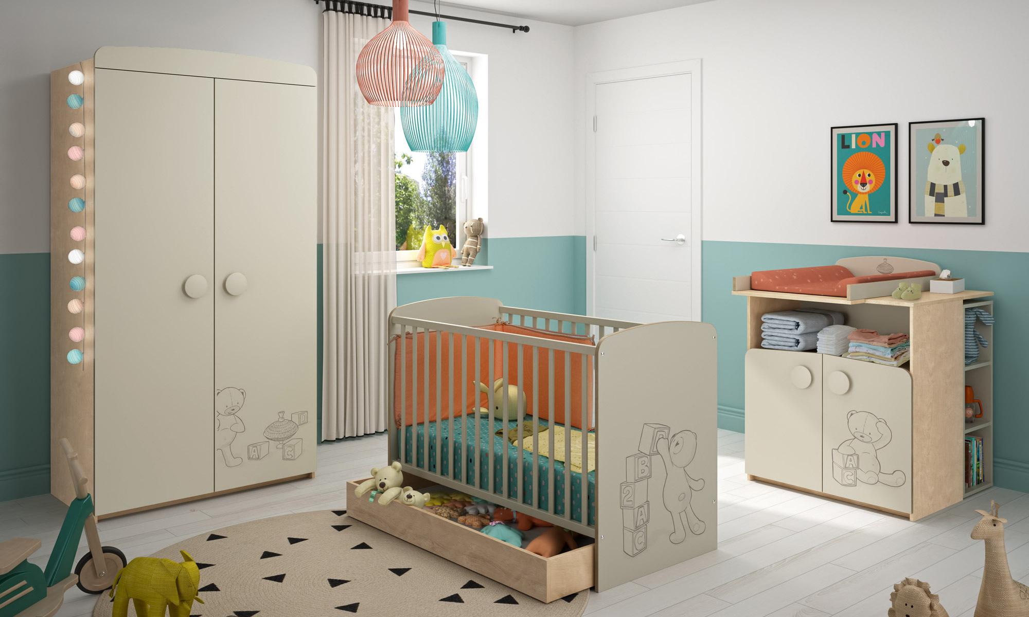 Chambre Bébé Winnie L Ourson Sauthon : Chambres bois pour bébé découvrez nos collections