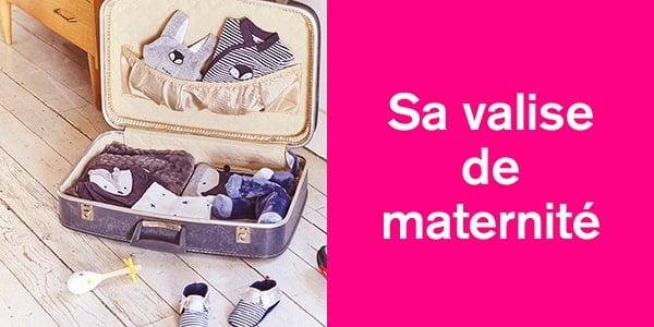 Sa valise de maternité
