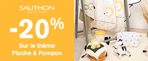 -20% sur le thème Pluche & Pompon de Sauthon
