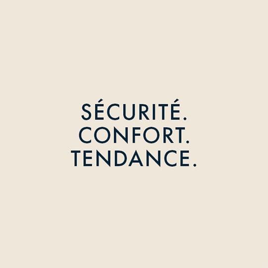 Sécurité confort. Tendance