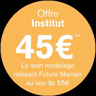 Offre Institut 45€** - Le soin modelage relaxant Future Maman au lieu de 55€