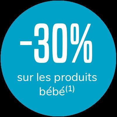 -30% sur les produits bébé(1)