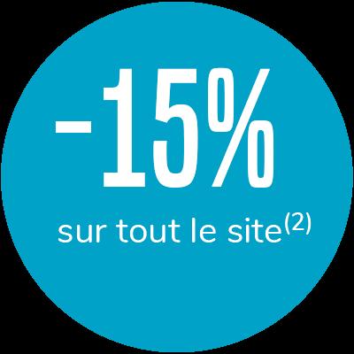 -15% sur tout le site(2)