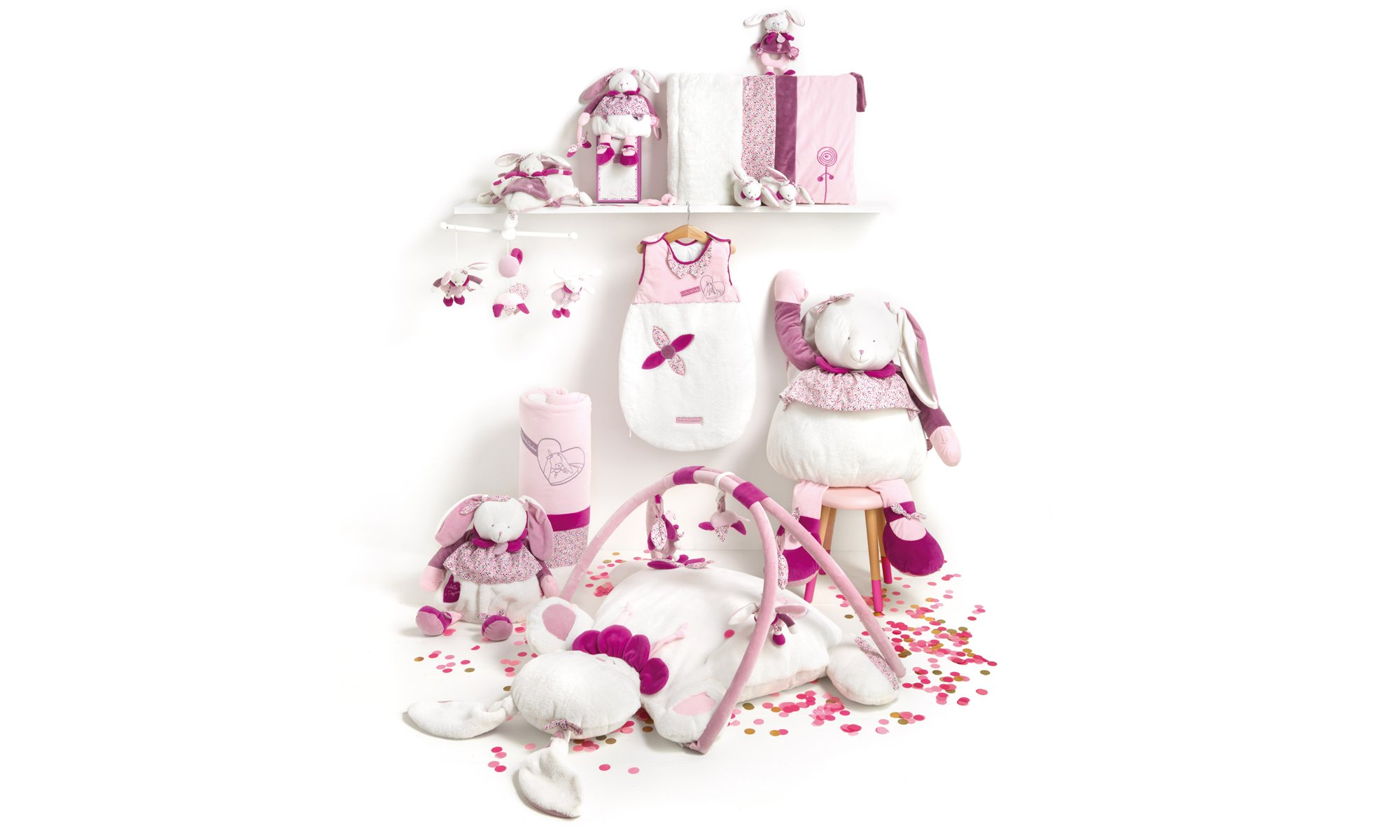 collection Cerise Lapin de Doudou & Compagnie